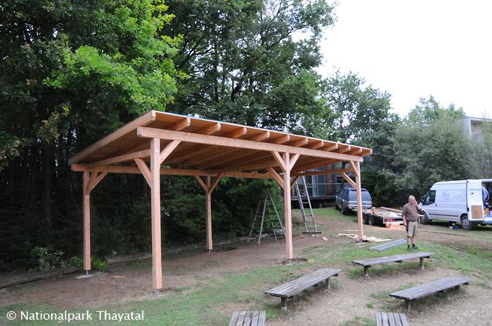Der überdachte Picknick-Platz